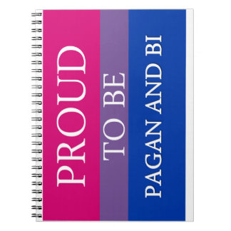 Proud To Be Pagan and Bi Notebook