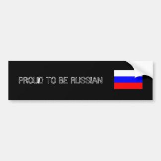 Proud to Be Russian Bumper Stiker Bumper Sticker