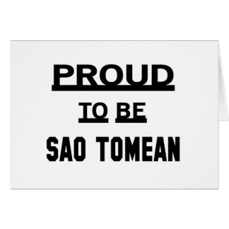 Proud to be Sao Tomean Card