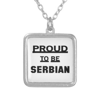 Proud to be Serbian Silver Plated Necklace