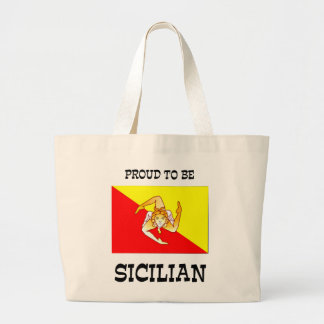 Proud to be Sicilian Large Tote Bag