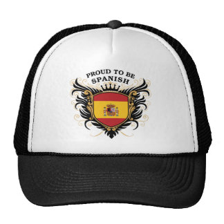 Proud to be Spanish Trucker Hats