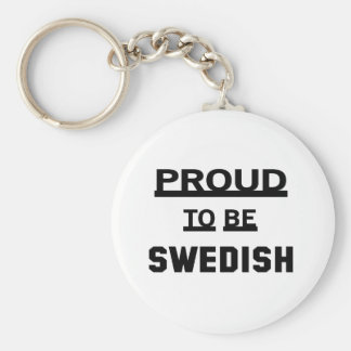 Proud to be Swedish Basic Round Button Key Ring