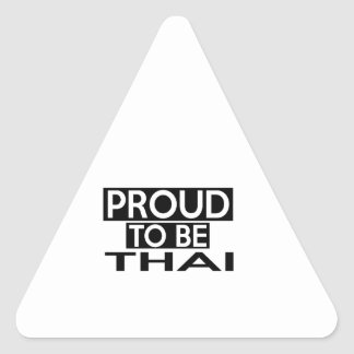 PROUD TO BE THAI TRIANGLE STICKER