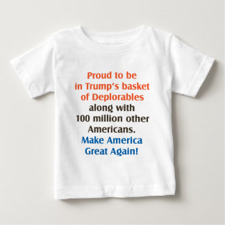 proud to be trump supporter baby T-Shirt