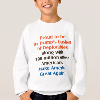 proud to be trump supporter sweatshirt