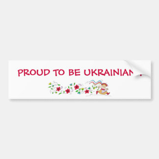 PROUD TO BE UKRAINIAN ! BUMPER STICKER