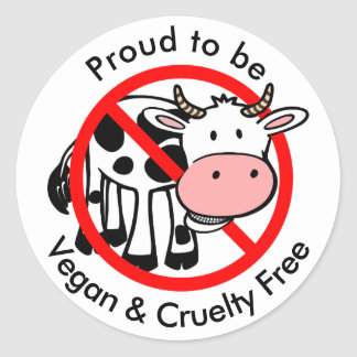 Proud to be Vegan and Cruelty Free Stickers