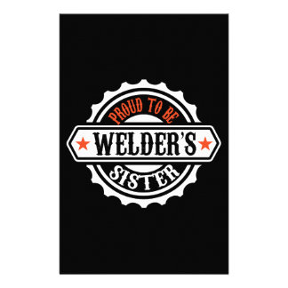 Proud To Be Welder's Sister Stationery Paper
