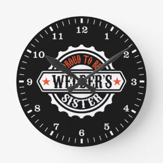 Proud To Be Welder's Sister Wall Clocks