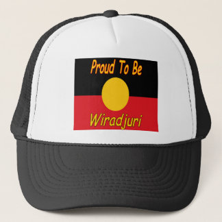 proud to be wiradjuri trucker hat