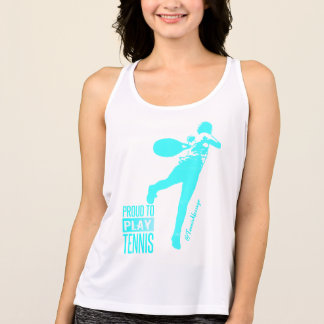 Proud To Play Tennis- Summer Singlet