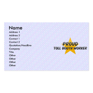 Proud Toll Booth Worker Business Card Templates