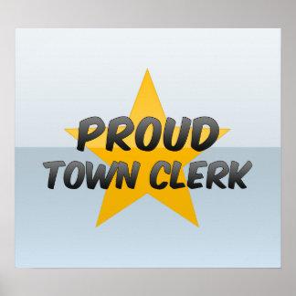 Proud Town Clerk Posters