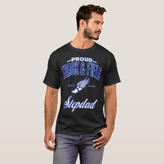 Proud Track & Field Stepdad T-Shirt (USA)