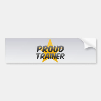Proud Trainer Bumper Stickers