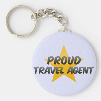 Proud Travel Agent Keychain
