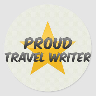 Proud Travel Writer Stickers
