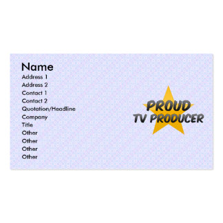 Proud Tv Producer Business Card