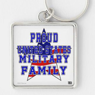 Proud U.S. Military Family Premium Keychain