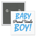 Proud Uncle Baby Boy T-shirts and Gifts 15 Cm Square Badge