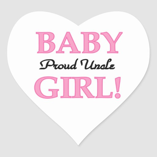 Proud Uncle Baby Girl Gifts Stickers