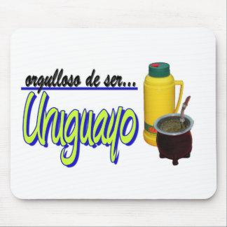 proud Uruguay slogan mate Mousepads
