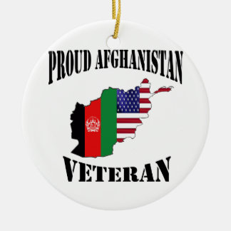 Proud US Afghanistan veteran Ceramic Ornament