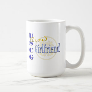 Proud USCG Girlfriend Basic White Mug