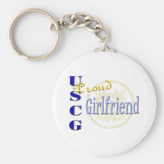 Proud USCG Girlfriend Key Chain
