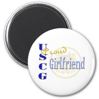 Proud USCG Girlfriend Refrigerator Magnets