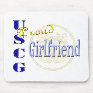Proud USCG Girlfriend Mouse Pad