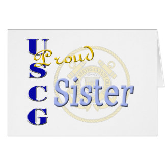 Proud USCG Sister Greeting Card
