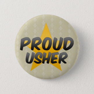 Proud Usher 6 Cm Round Badge