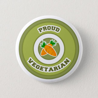 Proud Vegetarian 6 Cm Round Badge
