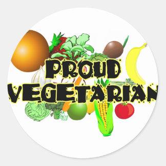 Proud Vegetarian Classic Round Sticker