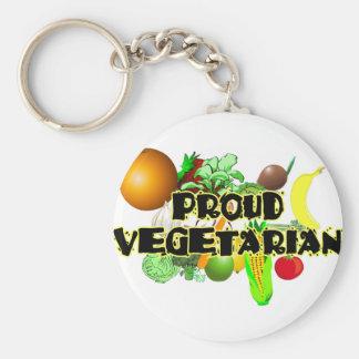 Proud Vegetarian Key Ring