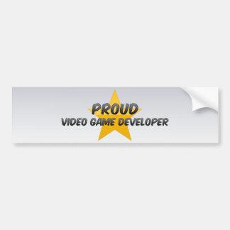 Proud Video Game Developer Bumper Stickers