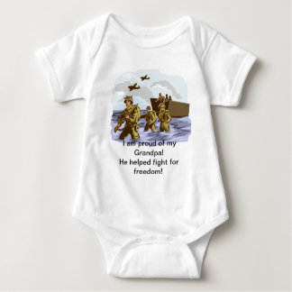 Proud War Veteran Grandpa Baby Bodysuit