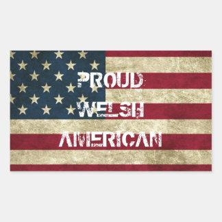 Proud Welsh American Sticker