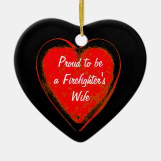 Proud wife ceramic heart decoration