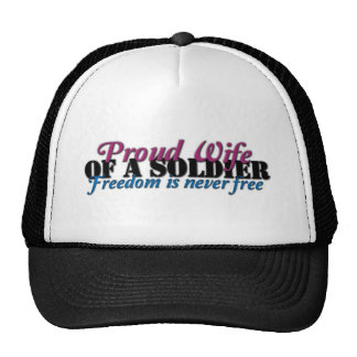 Proud Wife of a Soldier Hats