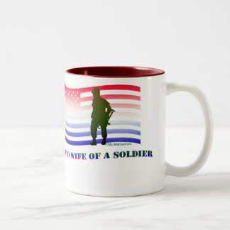 PROUD WIFE OF A SOLDIER COFFEE MUG