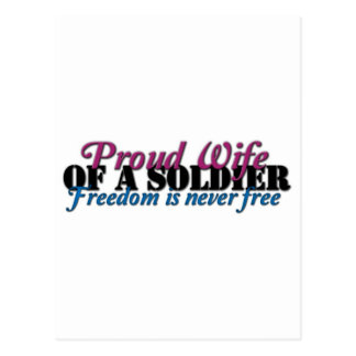 Proud Wife of a Soldier Postcard