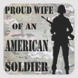 Proud Wife Of An American Soldier Stickers