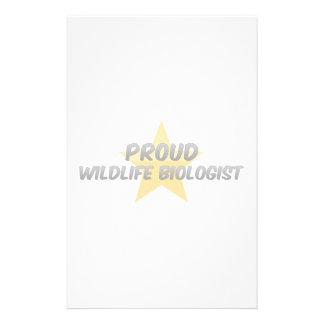 Proud Wildlife Biologist Stationery Paper