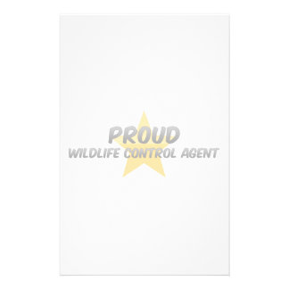 Proud Wildlife Control Agent Stationery Design