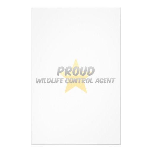 Proud Wildlife Control Agent Stationery Design