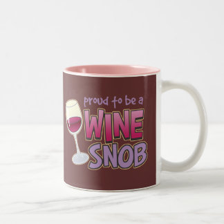 Proud Wine Snob Two-Tone Mug