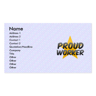 Proud Worker Business Cards